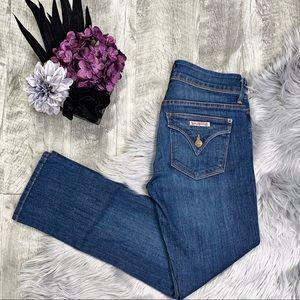 Huddon Signature Flap Pocket Straight Ankle Jeans